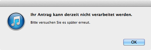 iTunes-Bürokratie
