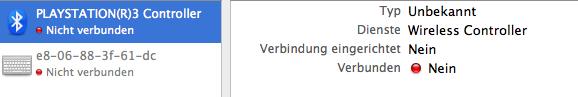 DualShock 3 am Mac